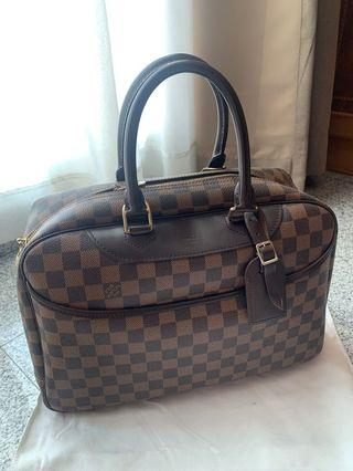 Louis Vuitton Damier Ebene Coated Canvas Sarria Horizontal Top Handle Bag
