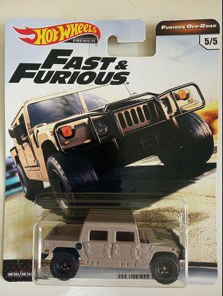 Hot Wheels 2019 Fast & Furious Premium - Off Road - Hummer H1
