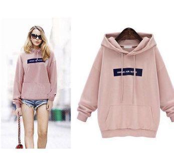 ❤️(INSTOCK) unique for retro pink hoodie pullover sweater jacket ulzzang korean vintage