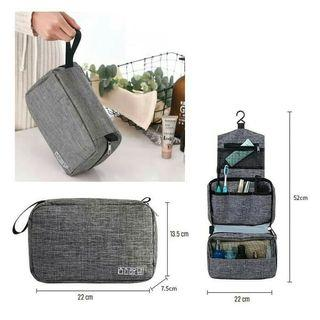 Travel toiletry waterproof premium / tas alat mandi dan kosmetik Polyester