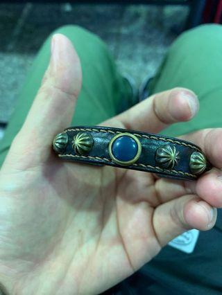 皮革卯釘復古手環