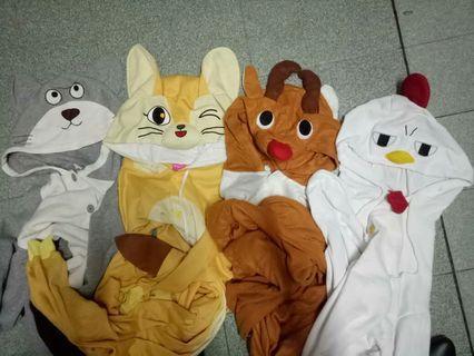 Pijamas Animal (Rat, Cat, Rusa,Chicken)