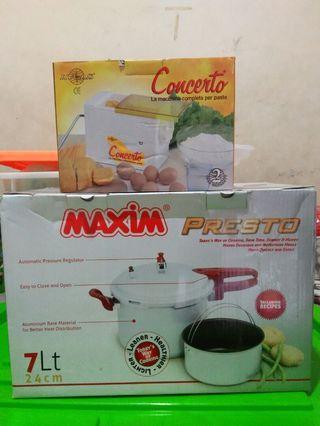 Panci presto dan pasta maker