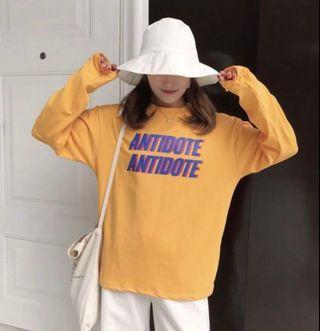 ❤️(INSTOCK) mustard yellow ulzzang antidote pullover sweater long sleeved shirt korean hypebeast