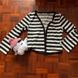 Striped Crop Jacket