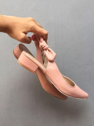 Peach Cellene Mules Flat shoes (heeled) 3 cm insole 23-23,5