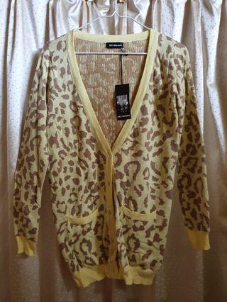 韓版💓黃色豹紋小外套💞