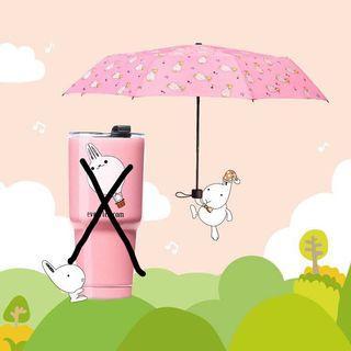 昇恆昌粉色折疊雨傘