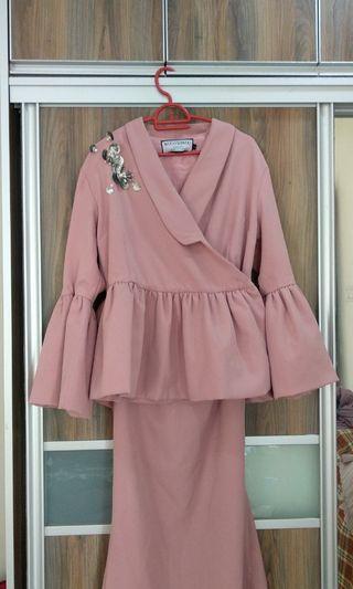 Kebaya Kuantan in Dusty Pink