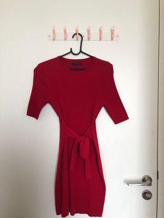 Nichii Red Dress size L