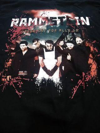 RAMMSTEIN OFFICIAL TOUR 2009 BAND T SHIRTS