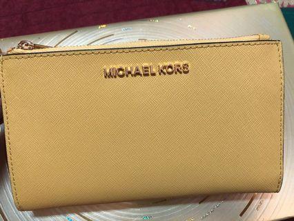 MICHAEL KORS 全新雙層拉鍊手機包 未用未試裝