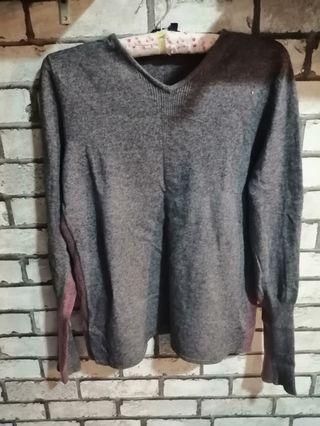 Sweatshirt Grey n Maroon 💕