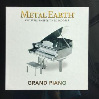 Authentic Metal Earth Grand Piano 3d Model Kit