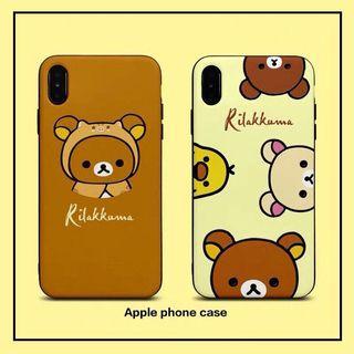 《預購》蘋果手機-日本卡通Rilakkuma 拉拉熊小雞蠶絲手機殼