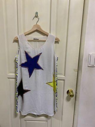Moma 白色繁星洋裝