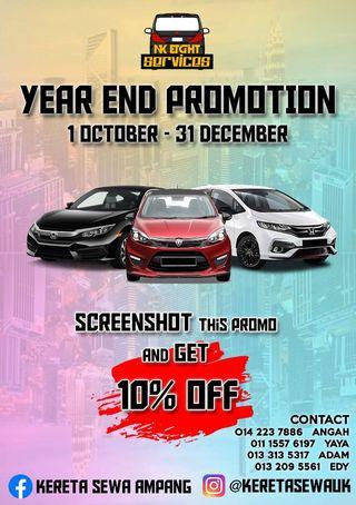 Year end promotion car rental