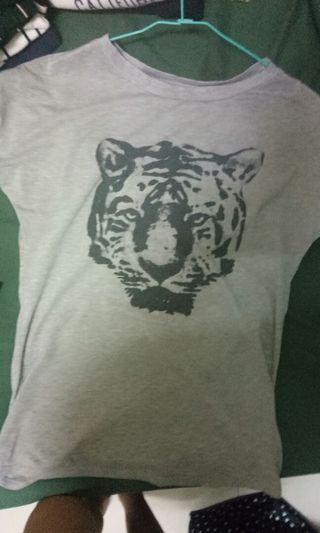 灰色老虎寬鬆t