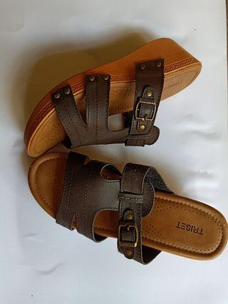 Leather Belt brown by triset