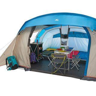 迪卡儂兩房一廳帳篷