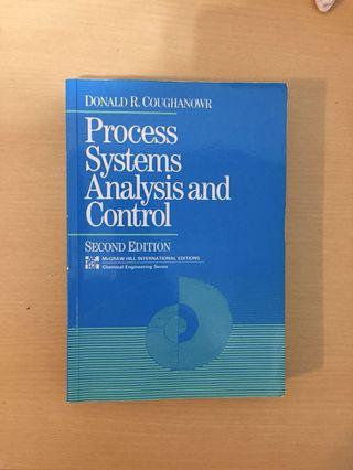 二手原文書 Process System Analysis and Control second Edition程序控制