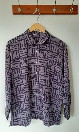 Kemeja kerja / kemeja kuliah / abstract shirt / kemeja vintage