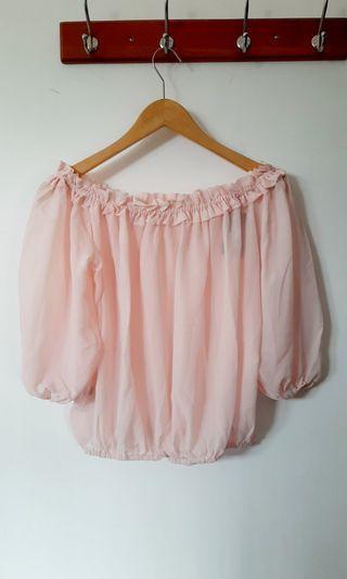 Sabrina Top / pink sabrina top