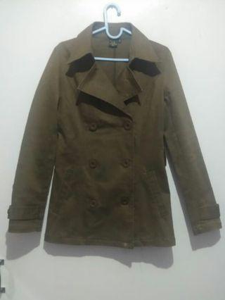 Coat Coklat kehijauan (army look)