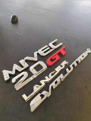 Lancer Evolution Inspira Mivec Emblem