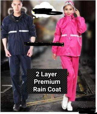 Baju Hujan 2 Layer Premium Raincoat Canvas Set