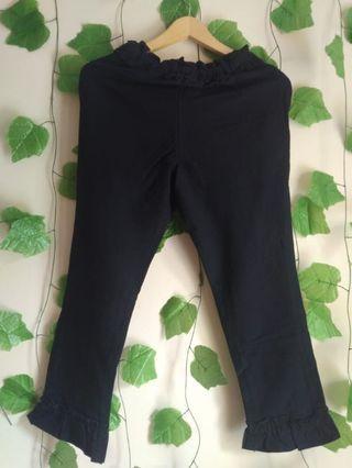 170 MARV black ruffle bottom pants