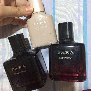 Botol kosong perfume zara (black amber, red vanilla, joyful tuberose) take all