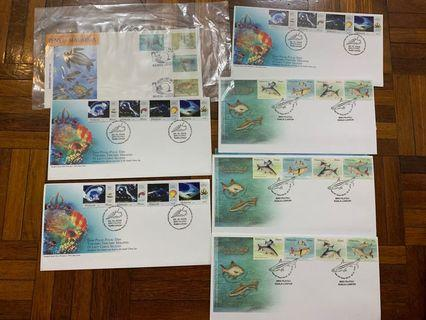 Fish and water life first day covers x 6