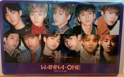 韓團 Wanna One 一卡通