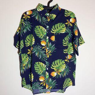 Joan《花襯衫》夏威夷 沙灘 港風 復古襯衫 短袖襯衫 寬鬆上衣