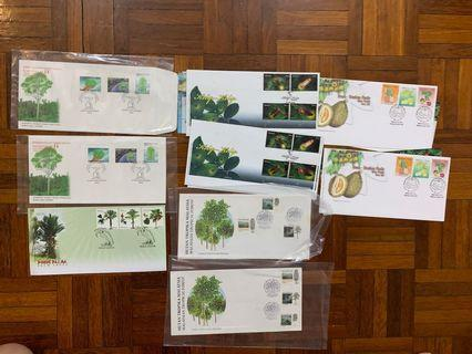 Trees, fruits and firefly first day covers