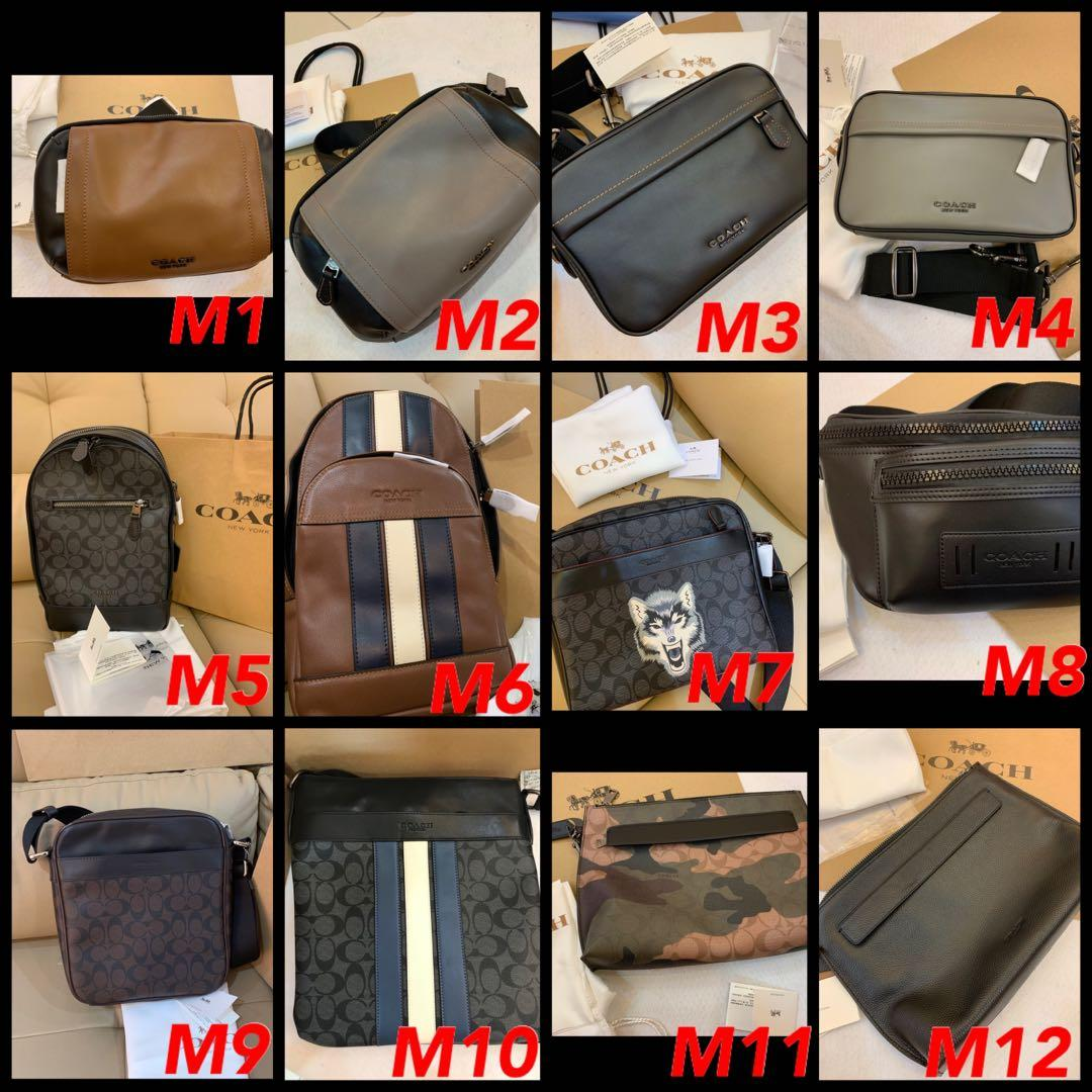 (22/09/19)Ready Stock Authentic coach men leather bag belt men accessories ready stock in set hn