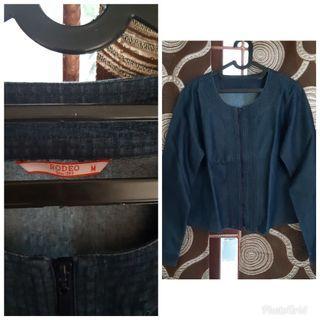 Atasan bahan denim Rodeo / atasan denim / jaket / jaket jean / jaket biru / free ongkir