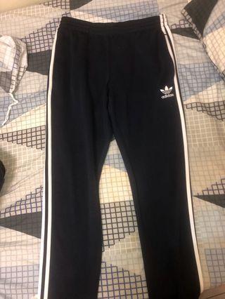 Adidas original 三線褲 深藍色