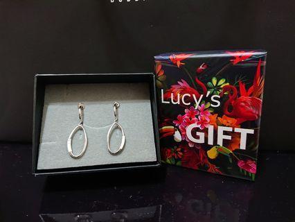 Lucy's 925純銀耳夾式珍珠母貝耳環