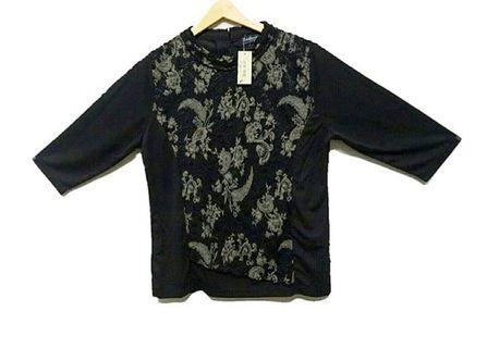 #RamadanSale Baju Import Murah - Blouse / atasan hitam brokat