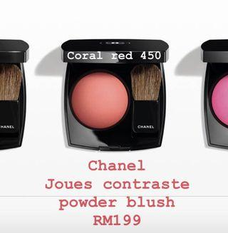 Chanel Coral Red 450 Blusher