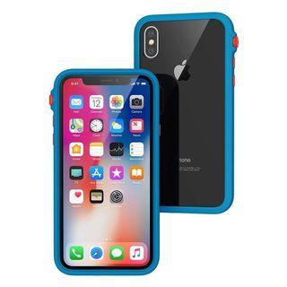 Catalyst iPhone X 防摔耐衝擊保護殼 亮眼藍橘(改裝BZR外接鏡頭環)