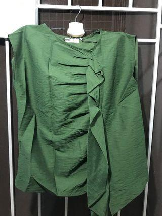 Blouse army green