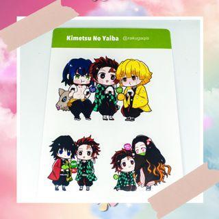 Kimetsu No Yaiba Demon Slayer sticker sheet fanmade