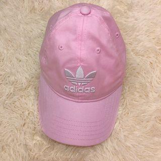 adidas粉紅帽