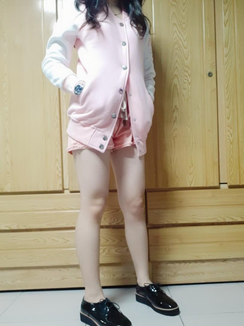 粉色甜美系外套