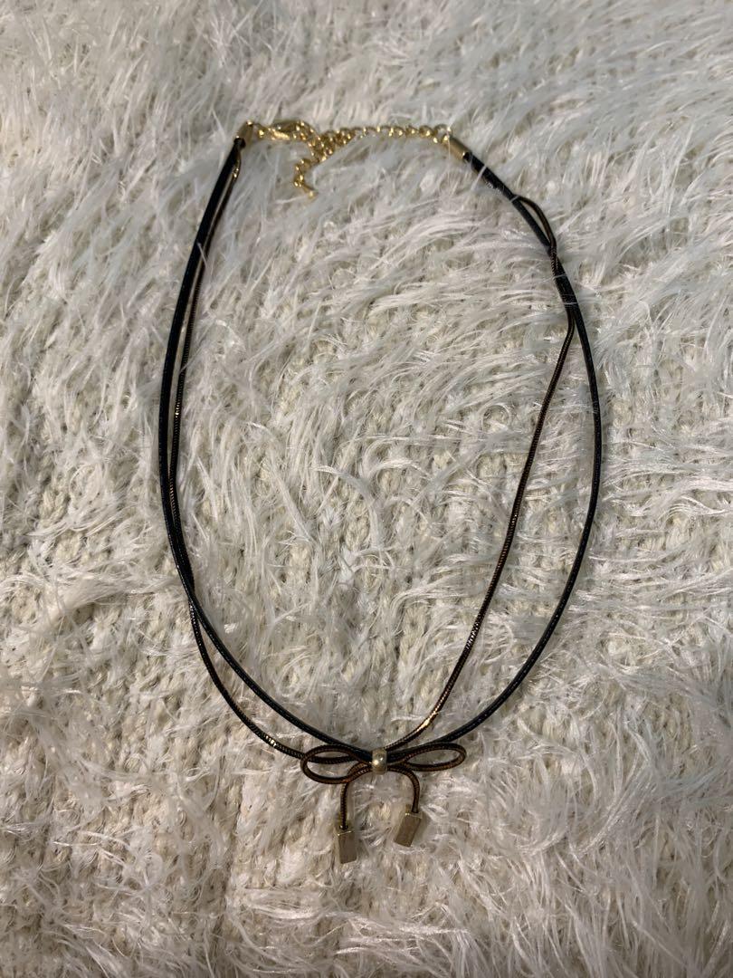 蝴蝶結雙環頸鏈