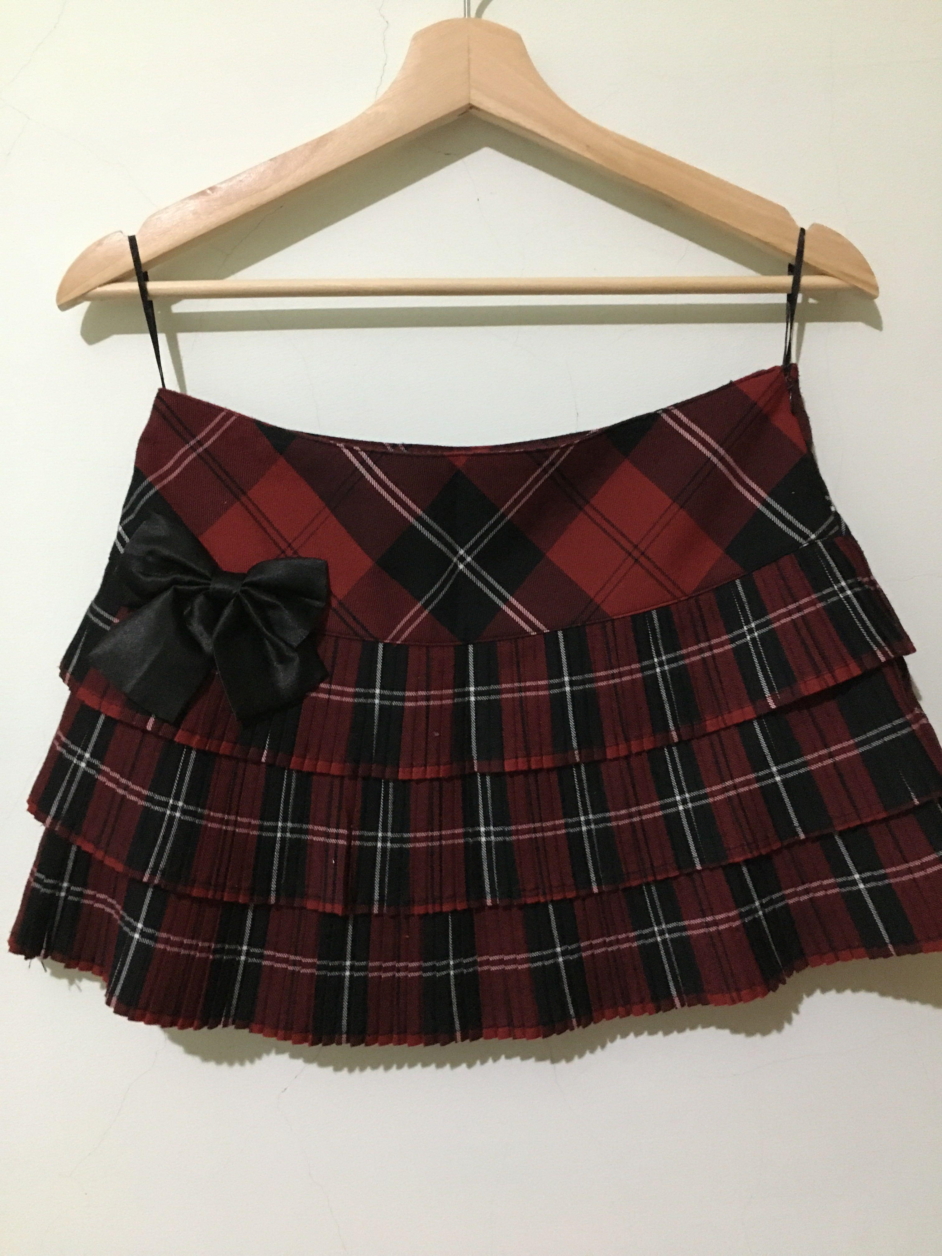 裙子格子裙蛋糕裙S號