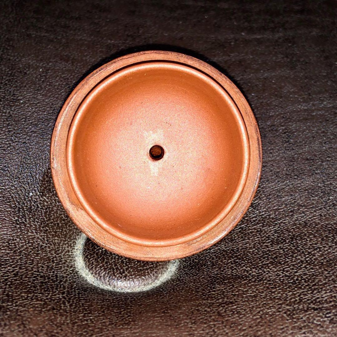 早期宜興紫砂  早年徒工特殊款壺